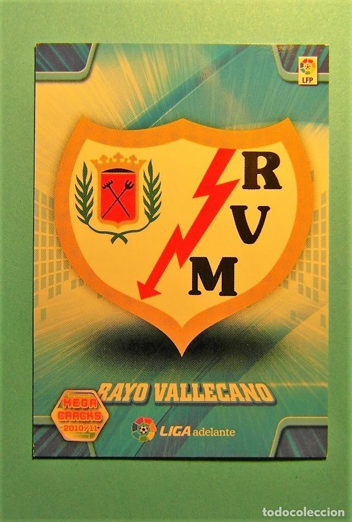 MEGACRACKS 2010 2011 10 11 ESCUDO RAYO VALLECANO 425 (Coleccionismo Deportivo - Álbumes y Cromos de Deportes - Cromos de Fútbol)