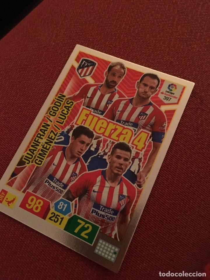 ADRENALYN XL 2018 2019 18 19 ATLÉTICO DE MADRID FUERZA 4 397 SIN ACTIVAR (Coleccionismo Deportivo - Álbumes y Cromos de Deportes - Cromos de Fútbol)