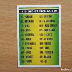 Cromos de Fútbol: 1110 INDICE FICHAS + IV MUNDICROMO FICHAS PLATINUM LIGA 2005 2006 05 06 CROMO NUEVO. Lote 146697442