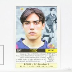 Cromos de Fútbol: FICHA LIGA 1999 / 2000 MUNDICROMO - Nº 597 MARIO F.C. BARCELONA - ERROR IMPRESIÓN. Lote 146868338