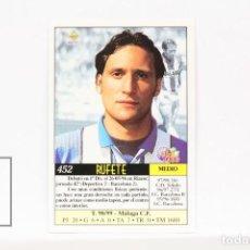 Cromos de Fútbol: FICHA LIGA 1999 / 2000 MUNDICROMO - Nº 452 RUFETE MALAGA - ERROR EN EL JUGADOR Y EQUIPO. Lote 146870854