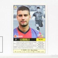 Cromos de Fútbol: FICHA LIGA 1999 / 2000 MUNDICROMO - Nº 9 GUARDIOLA F.C. BARCELONA - ERROR EN LA IMPRESIÓN. Lote 146882038