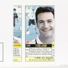 Cromos de Fútbol: FICHA LIGA 1999 / 2000 MUNDICROMO - Nº 500 MANJARÍN REAL RACING - ERROR IMPRESIÓN. Lote 146886474