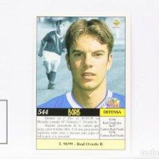 Cromos de Fútbol: FICHA LIGA 1999 / 2000 MUNDICROMO - Nº 544 BORIS REAL OVIEDO - ERROR FOTO PORTERO RAYO VALLECANO. Lote 146979634