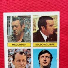 Cromos de Fútbol: LIGA ESTE 81 82 ENTRENADORES MAGUREGUI KOLDO AGUIRRE BOSKOV GARCÍA TRAID BAJA 1981-1982. Lote 147202486