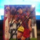 Cromos de Fútbol: CROMO MESSI AUTOGRAFIADO MEGA CRACKS 2006 2007 DE SU PUÑO Y LETRA. Lote 147231712