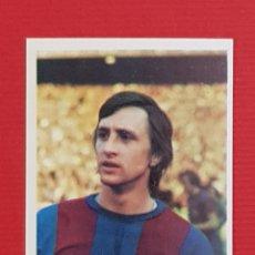 Cromos de Fútbol: CRUYFF FC BARCELONA FINI 1975-1976 CROMO NUEVO NUNCA PEGADO DEP. LEGAL MU 75-76. Lote 147267865