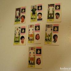 Cromos de Fútbol: LOTE CROMOS CAMPEONATO DE FUTBOL TEMPORADA 74 75 1974 1975 NUNCA PEGADOS REAL MADRID. Lote 147483378