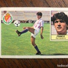 Cromos de Fútbol: ESTE 1984-1985 FRANCIS FICHAJE Nº 7 VERSION MAS DIFICIL REAL VALLADOLID 84-85 NUNCA PEGADO SIN PEGAR. Lote 147642354