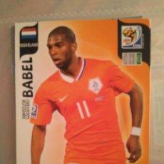 Cromos de Fútbol: MUNDIAL 2010 SUDÁFRICA ADRENALYN XL UK RYAN BABEL (HOLANDA) SOLO SALÍA EN UK. Lote 147788110