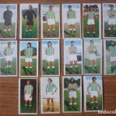Cromos de Fútbol: LOTE 16 CROMOS DIFERENTES BETIS ALBUM ESTE 75 76 - NUNCA PEGADOS - FUTBOL LIGA 1975 1976. Lote 147882994