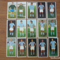 Cromos de Fútbol: LOTE 15 CROMOS DIFERENTES REAL SOCIEDAD ALBUM ESTE 75 76 - NUNCA PEGADOS - FUTBOL LIGA 1975 1976. Lote 147887894