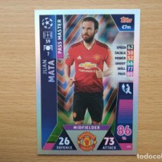 Cromos de Fútbol: 175 PASS MASTER MATA MANCHERSTER UNITED TOPPS CHAMPIONS LEAGUE 2018 2019 18 19 NUEVO. Lote 148327878