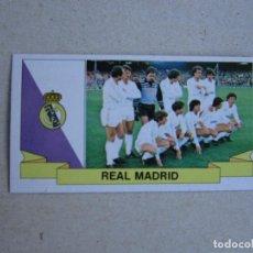 Cromos de Fútbol: ESTE 85-86 ALINEACION REAL MADRID 1985-1986 VERSION CON PUBLICIDAD NUEVO. Lote 219176758