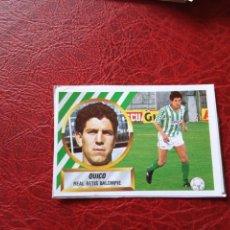 Cromos de Fútbol: QUICO REAL BETIS ED ESTE LIGA CROMO 88 89 FUTBOL 1988 1989 - RECUPERADO ALBUM - 1289. Lote 148745606