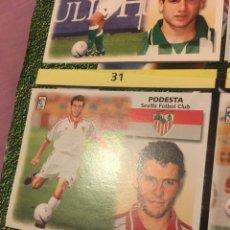 Cromos de Fútbol: ESTE 1999 2000 99 00 RECORTADO PODESTA SEVILLA FICHAJE 34. Lote 182899970