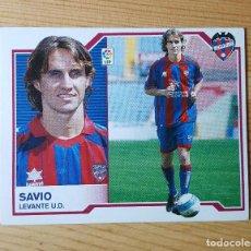 Cromos de Fútbol: CROMO LIGA ESTE 07-08 SAVIO LEVANTE U.D. 2007/2008 - SIN PEGAR. Lote 149661030