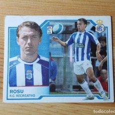 Cromos de Fútbol: CROMO LIGA ESTE 07-08 ROSU R.C. RECREATIVO 2007/2008 - SIN PEGAR. Lote 149662902