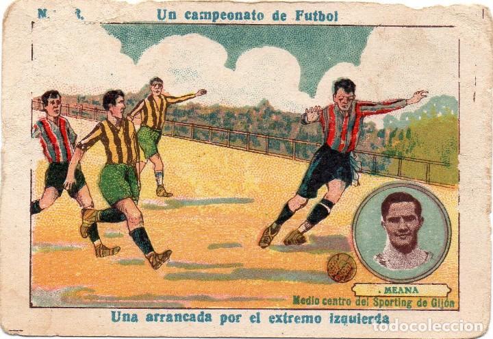 MEANA, DEL SPORTING DE GIJON (Coleccionismo Deportivo - Álbumes y Cromos de Deportes - Cromos de Fútbol)