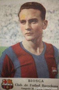 Cromo Biosca. Club de fútbol Barcelona. Campeón de España 1950-51 F.C.B. Castellblanch