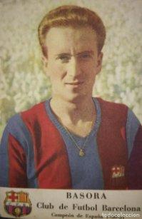 Cromo Basora. Club de fútbol Barcelona. Campeón de España 1950-51 F.C.B. Castellblanch