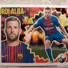 Cromos de Fútbol: CROMO Nº 7 A JORDI ALBA (F.C. BARCELONA) LIGA 18-19 (2018 2019) ÁLBUM ESTE. Lote 194359370