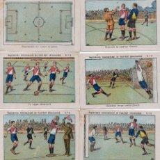 Cromos de Fútbol: 11 CROMOS , RECLAMENTO INTERNACIONAL, MIDEN 11X8. Lote 150219946