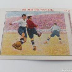 Cromos de Fútbol: LOS ASES DEL FOOT-BALL NUMERO 23 CAREAGA ATHLETIC SAMITIER FC BARCELONA CROMO FUTBOL ANTIGUO. Lote 150246970