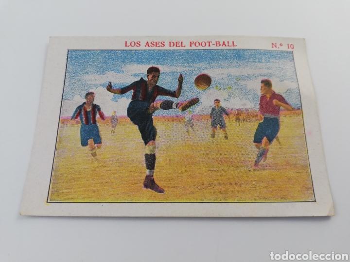 LOS ASES DEL FOOT-BALL NUMERO 10 ALFONSO XIII MALLORCA CROMO ANTIGUO FUTBOL CHOCOLATE SEBASTIAN PRAT (Coleccionismo Deportivo - Álbumes y Cromos de Deportes - Cromos de Fútbol)