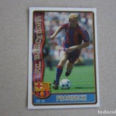 Figurine di Calcio: MUNDICROMO FICHAS LIGA 96 97 Nº 49 PROSINECKI BARCELONA 1996 1997. Lote 262136235