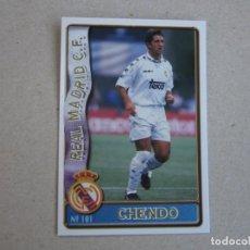 Cartes à collectionner de Football: MUNDICROMO FICHAS LIGA 96 97 Nº 101 CHENDO REAL MADRID 1996 1997. Lote 245728615