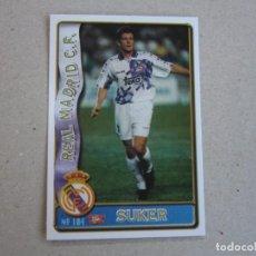 Figurine di Calcio: MUNDICROMO FICHAS LIGA 96 97 ULTIMA HORA Nº 104 UH SUKER REAL MADRID 1996 1997. Lote 270232588