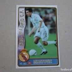 Figurine di Calcio: MUNDICROMO FICHAS LIGA 96 97 ULTIMA HORA Nº 105 UH MIJATOVIC REAL MADRID 1996 1997. Lote 259305320