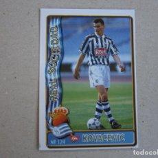 Cromos de Futebol: MUNDICROMO FICHAS LIGA 96 97 ULTIMA HORA Nº 124 UH KOVACEVIC REAL SOCIEDAD 1996 1997. Lote 225374335