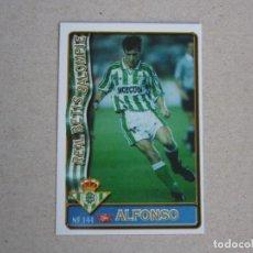 Figurine di Calcio: MUNDICROMO FICHAS LIGA 96 97 ULTIMA HORA Nº 144 UH ALFONSO BETIS 1996 1997. Lote 271869618