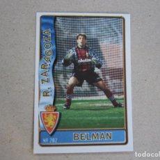 Figurine di Calcio: MUNDICROMO FICHAS LIGA 96 97 Nº 202 BELMAN ZARAGOZA 1996 1997. Lote 259230025