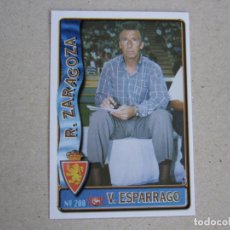 Figurine di Calcio: MUNDICROMO FICHAS LIGA 96 97 ULTIMA HORA Nº 200 UH VICTOR ESPARRAGO ZARAGOZA 1996 1997. Lote 278495543