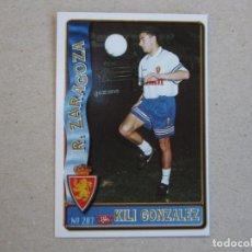 Cromos de Futebol: MUNDICROMO FICHAS LIGA 96 97 ULTIMA HORA Nº 207 UH KILI GONZALEZ ZARAGOZA 1996 1997. Lote 211833271