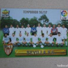 Figurine di Calcio: MUNDICROMO FICHAS LIGA 96 97 LETRAS PLATEADAS Nº 235 PLANTILLA INDICE SEVILLA 1996 1997. Lote 268288149