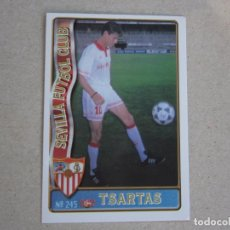 Figurine di Calcio: MUNDICROMO FICHAS LIGA 96 97 ULTIMA HORA Nº 245 UH TSARTAS SEVILLA 1996 1997. Lote 288978168