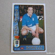 Figurine di Calcio: MUNDICROMO FICHAS LIGA 96 97 ULTIMA HORA Nº 265 UH BORELLI OVIEDO 1996 1997. Lote 266272463