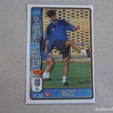 Cartes à collectionner de Football: MUNDICROMO FICHAS LIGA 96 97 ULTIMA HORA Nº 266 UH GAY OVIEDO 1996 1997. Lote 227488799