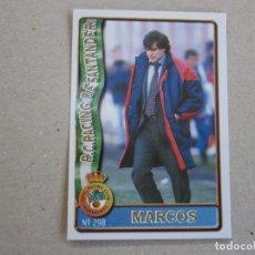 Figurine di Calcio: MUNDICROMO FICHAS LIGA 96 97 Nº 290 MARCOS ALONSO RACING SANTANDER 1996 1997. Lote 278501398