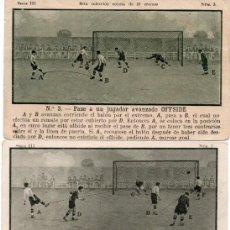 Cromos de Fútbol: 7 CROMOS DE JUGADAS DE FUTBOL, 1923. Lote 150343798