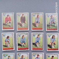 Cromos de Fútbol: LOTE 16 CROMOS 13 NUNCA PEGADOS FUTBOL COMPLETO CD MALAGA EDIC FHER 72 73 1972 1973 EXCELENTE ESTADO. Lote 150355666
