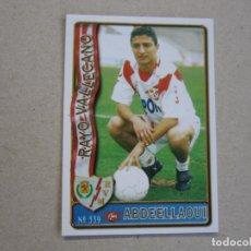 Figurine di Calcio: MUNDICROMO FICHAS LIGA 96 97 ULTIMA HORA Nº 339 UH ABDEELLAOUI RAYO VALLECANO 1996 1997. Lote 290862988