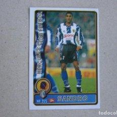 Figurine di Calcio: MUNDICROMO FICHAS LIGA 96 97 ULTIMA HORA Nº 355 UH SANDRO HERCULES 1996 1997. Lote 285066448