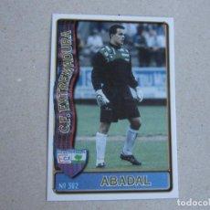 Figurine di Calcio: MUNDICROMO FICHAS LIGA 96 97 Nº 382 ABADAL EXTREMADURA 1996 1997. Lote 273351683