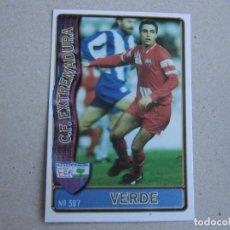 Cartes à collectionner de Football: MUNDICROMO FICHAS LIGA 96 97 Nº 387 VERDE EXTREMADURA 1996 1997. Lote 217148186