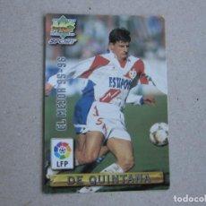 Cartes à collectionner de Football: MUNDICROMO FICHAS LIGA 96 97 EL MEJOR Nº 418 DE QUINTANA RAYO VALLECANO 1996 1997. Lote 242204780
